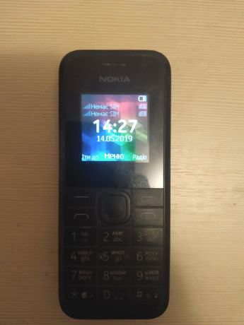 Тел Nokia 105 на 2 sim карти.