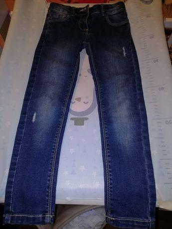 Spodnie jeansy dla dziewczynki Smyk rozmiar 122