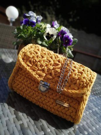 Szydełkowa torebka handmade