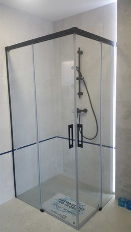 Kabina prysznicowa, czarna, Radaway, Idea black 80x100 Śrem