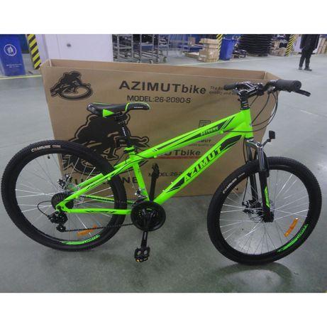 Азимут Экстрим 24 , 26 GFRD Шимано  велосипед горный одноподвес Azimut