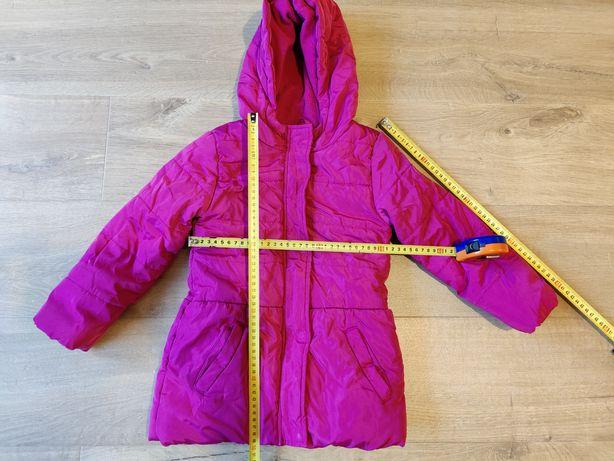 Kurtka zimowa dziewczęca Cool Club Smyk roz 110 przetarty guzik
