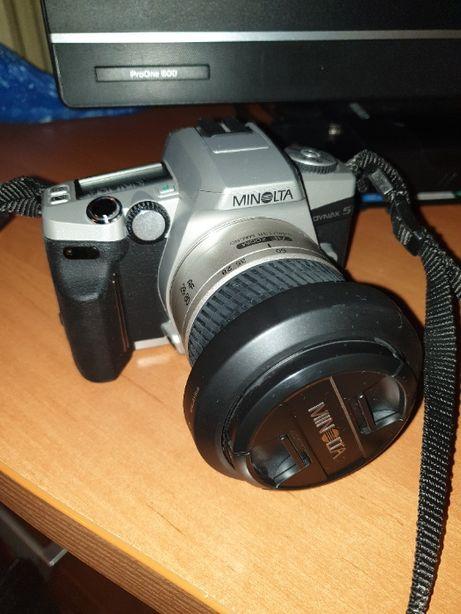 Aparat fotograficzny - Minolta Dynax 5 + teleobiektyw