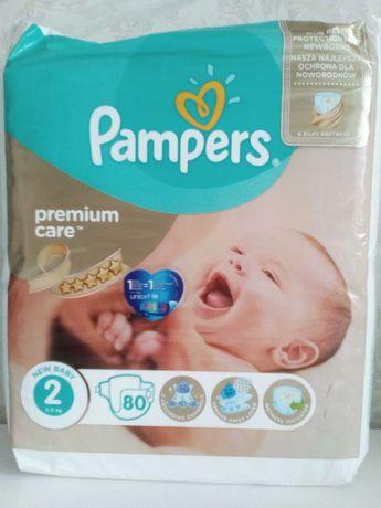 Подгузники . Памперс Premium care . New Baby . №2. .(3-6 кг) 80 шт.