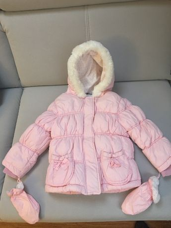Kurteczka zimowa dziewczęca rozmiar 86-92