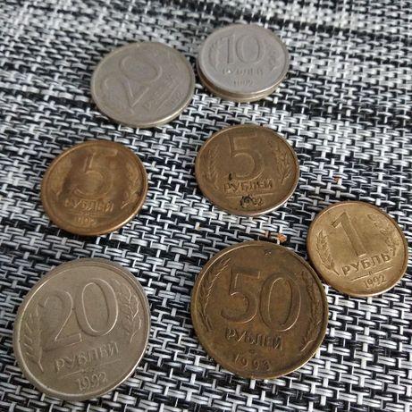 Продам монеты 1, 5, 10, 20, 50 рублей 1992 год