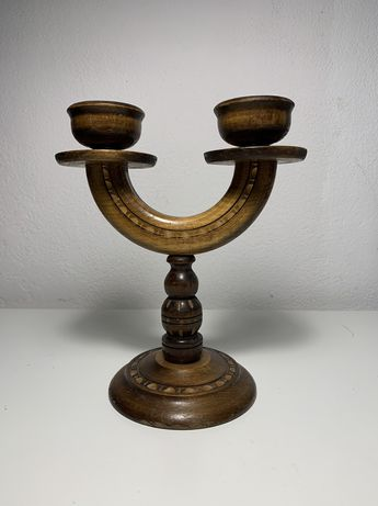 Sprzedam stary świecznik drewniany