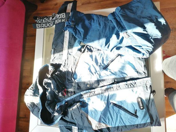 Komplet narciarski brugi spodnie kurtka narciarska 170