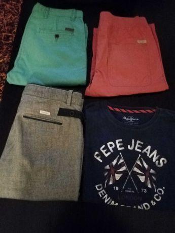 1a camisola de manga cumprida, 1 par de calças e 2 calções para vender