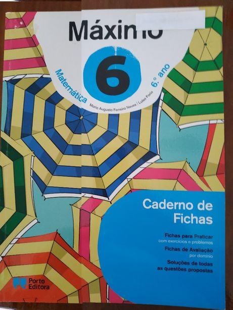 Caderno de Fichas/Máximo do Aluno - Máximo - Matemática - 6.º Ano