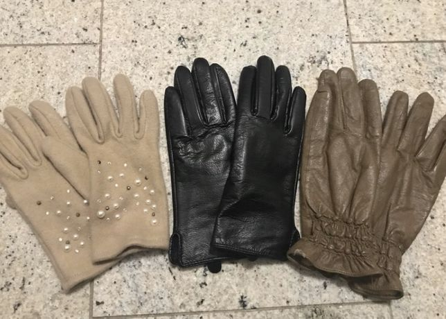 Rękawiczki damskie 3 pary