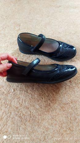 Туфлі балетки синього кольору сині