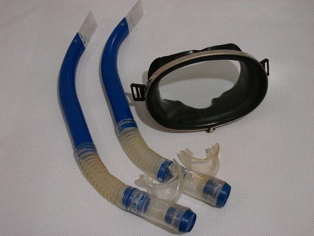 ласти, маска та 2 трубки