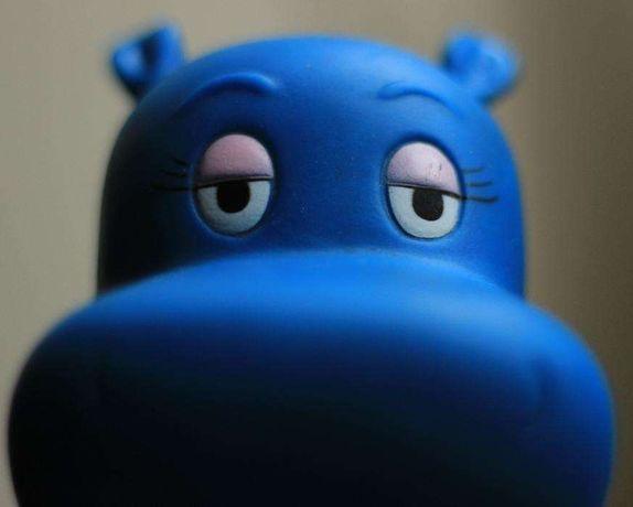 Hipopótamo Buzina, para a bicicleta da menina ou menino, como novo