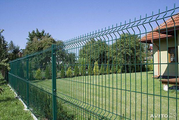 Сітка,Секционная 3-Д Заграда 1,5 м х 2,5 м забор с ППЛ