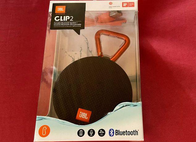 JBL Clip 2 Coluna Bluetooth - NOVA