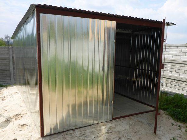 Blaszak Garaż na budowę Schowek budowlany Garaże 3x4 3x5 3x6 PRODUCENT