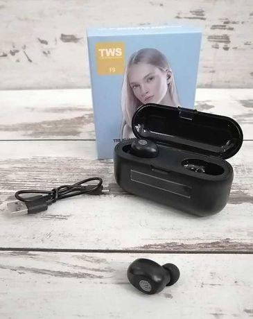Słuchawki Bezprzewodowe F9+ TWS BT 5.0 + POWERBANK 2200MAH