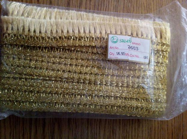 Тесьма золотистая металлизированная