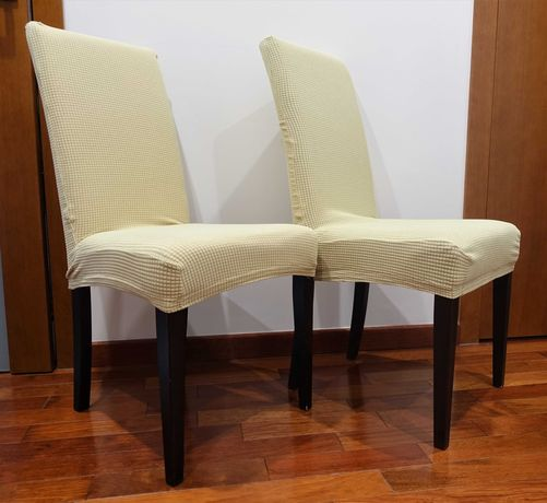 Krzesła Caro Halex 2 czerwone 2 brązowe+4pokrowce