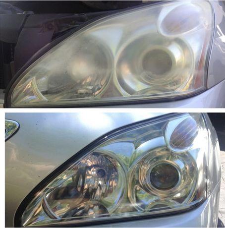 Restauro opticas oticas automóvel restaurar carro farois polimento