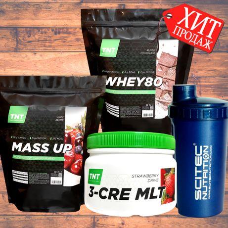Максимальный Набор мышечной массы: Протеин + Гейнер + Креатин + Шейкер