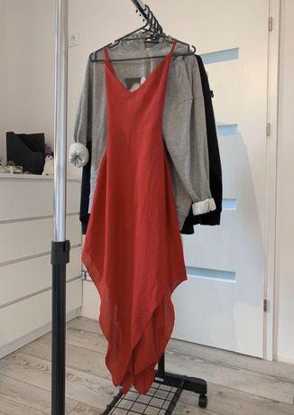 sukienka balowa długa odkryte plecy
