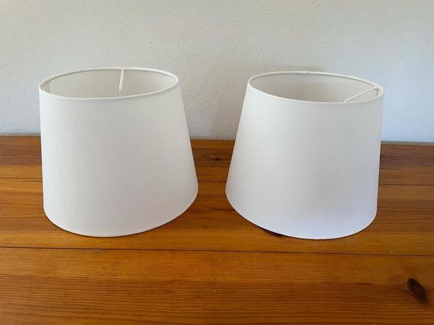 2 abajures Ikea novos brancos