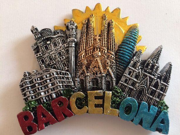 Magnes na lodówkę 3D z Hiszpanii, Barcelona prezent