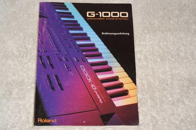 Sprzedam instrukcję obsługi do keyboardu ROLAND G-1000