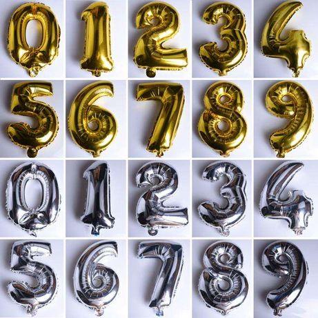 Шары фольгированные цифры из фольги на День Рождения кульки 40 см