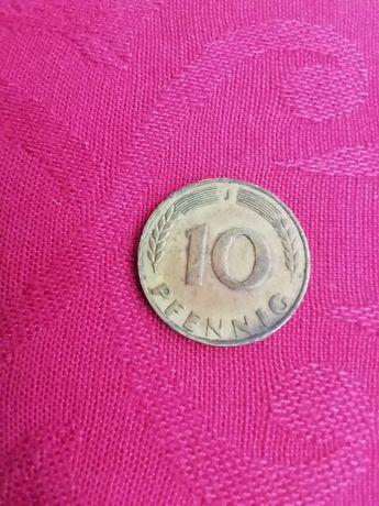 Moeda de 10 pfenning de 1949