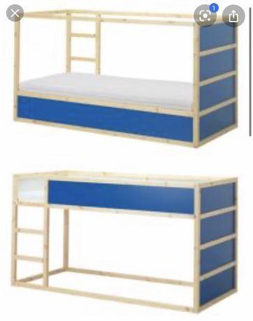 Lozko pietrowe dwustronne Ikea kura w idealnym stanie