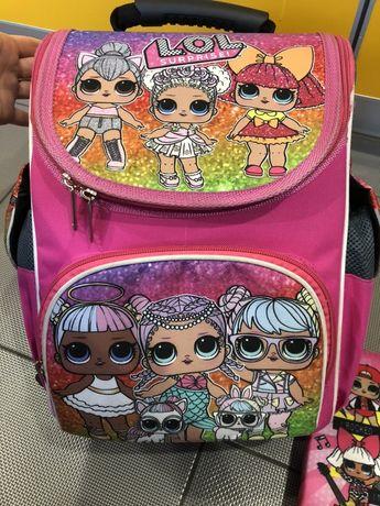 Школьный рюкзак девочке с куклами Lol.пенал в подарок к покупке