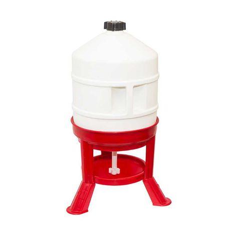 Poidło automatyczne dla drobiu zbiornikowe 30 l na stojaku z korkiem