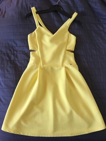 Vestido cerimónia amarelo novo