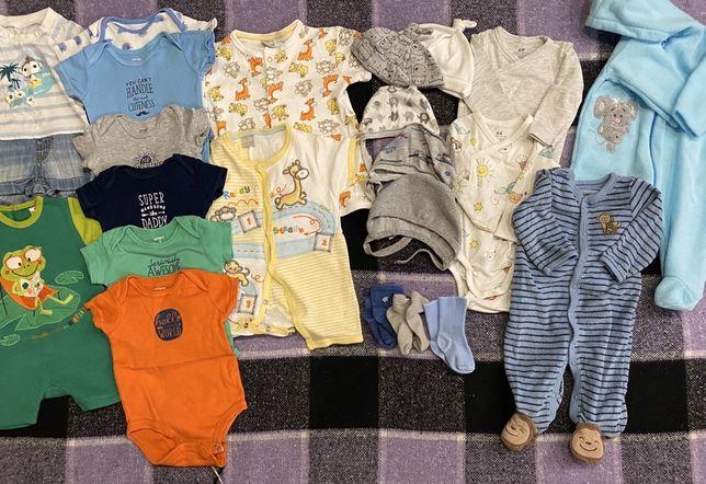 Пакет вещей на мальчика 3 месяца (62р) на лето Carter's H&M Smile