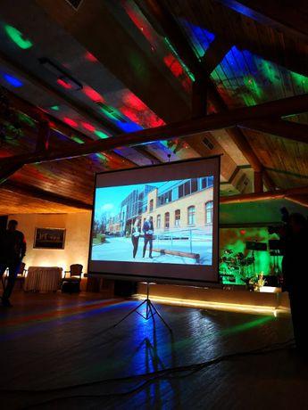 Ekran projekcyjny, projektor, rzutnik, ekran do rzutnika Wynajem