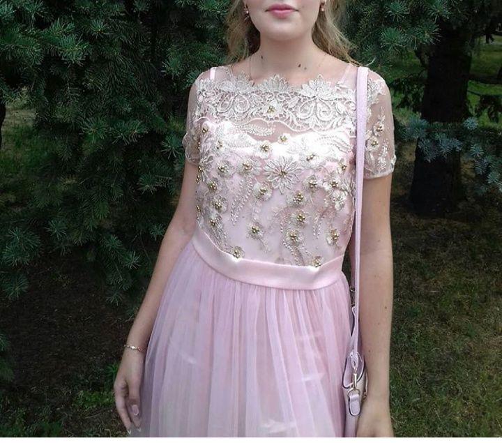 Красивое розовое платье, размер L Киев - изображение 1