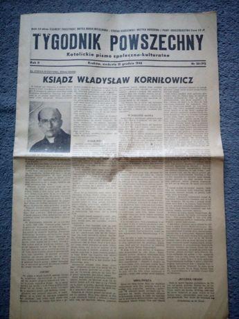 Tygodnik Powszechny stara oryginalna gazeta z 1946 roku