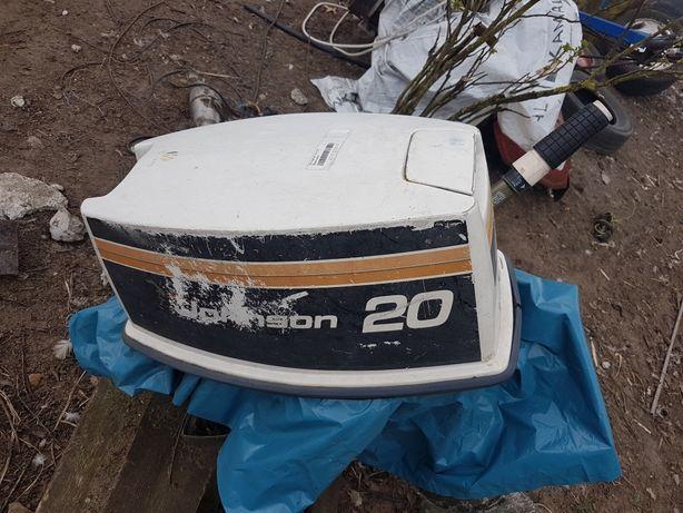 Johnson 20km silnik do łódki łodzi lodki lodzi zaburtowy spalinowy