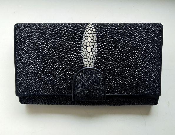 Кошелек- портмоне из натуральной кожи морского ската