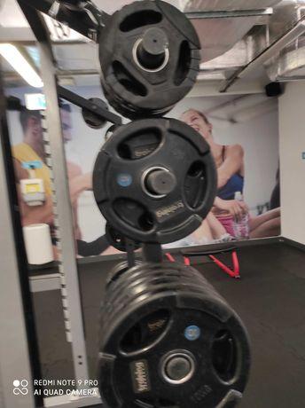 Obciążenie olimpijskie ogumowane 2.5-20kg siłownia hes olymp Sewim hbp