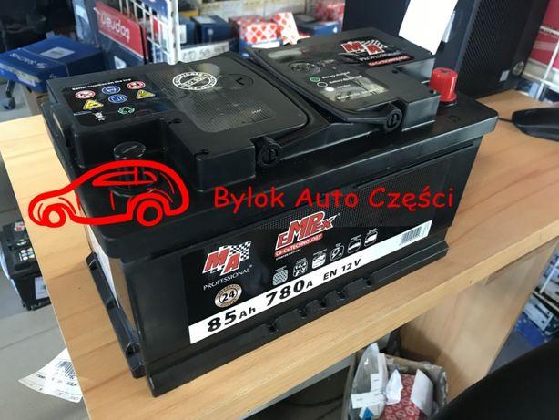 """AKUMULATOR 85AH/780A """"Moje Auto"""" NOWY!!! Prawy+ """"Bylok Auto Części"""""""