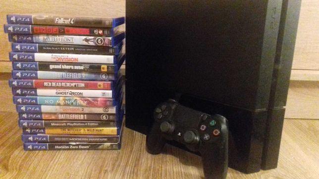 Playstation 4 500gb oraz 1 pad i 16 gier