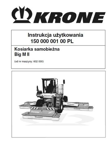 Instrukcja obsługi Krone Big M II [PL]