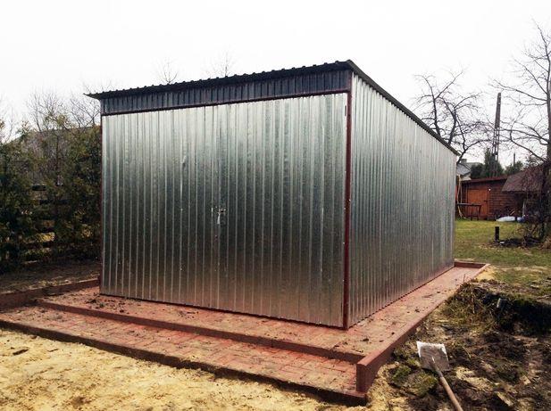 Garaż/Blaszak 3x5m, ocynk (Możliwe inne wymiary)