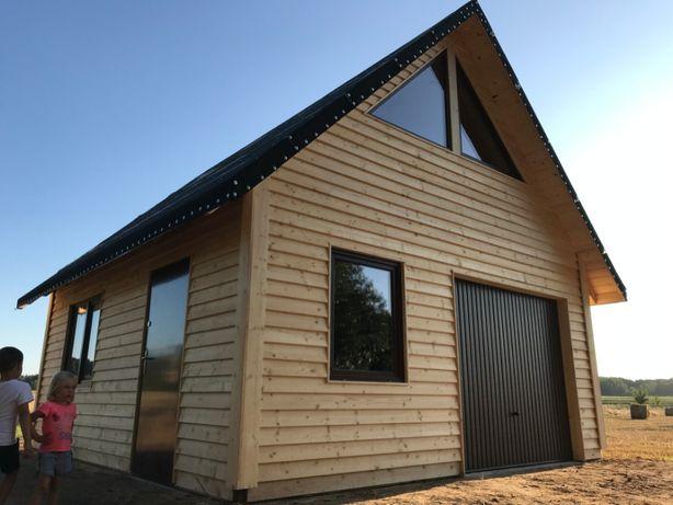 GARAŻ Drewniany domek z poddaszem warsztat dom KOWALIK
