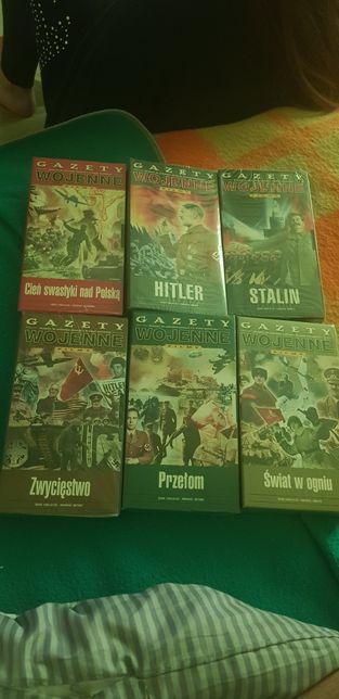 Nowe za foliowane kasety VHS 2 wojna światowa Hitler Stalin itp