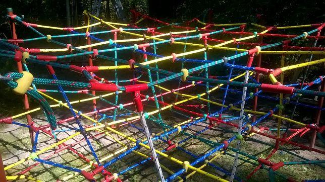 Siatka wspinaczkowa liny do wspinaczki plac zabaw małpi gaj 3D 16 mm